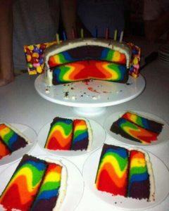 Farbiger-Kuchen - Azofarbstoffe